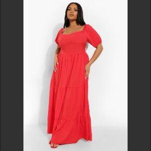 Boohoo - Plus Size Tiered Madi Dress